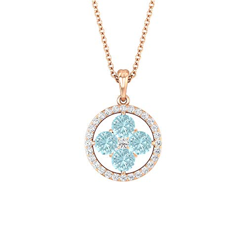 Rosec Jewels 10 quilates oro rosa round-brilliant-shape H-I Diamond