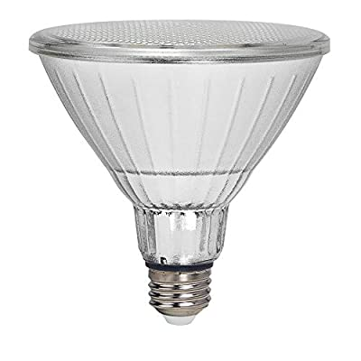 Geeni LUX Smart Floodlight, White – Outdoor 2700K-6500K Dimmable LED Bulb, E26, PAR38, 11W, 1000 Lumens – No Hub Works with Amazon Alexa, Google Assistant, Requires 2.4 GHz Wi-Fi