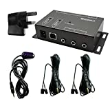 SZBJ IR remote repeater, infrared remote control extender kit BD104, two dual head IR emitters