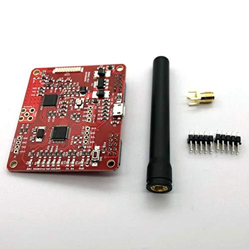 Kurphy 2.0 Módulo de Punto de Acceso Compatible con P25 DMR YSF NXDN para Raspberry Pi Tipo B 3B 3B + con Placa de Antena roja