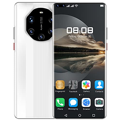 HUALUDA Mate 40 RS Cell Phones, Unlocked Android Gaming Mobile Phones, HD Display Smartphone, Cell Phones with face Recognition Function, 5000mAh Battery (Size : 12GB+128GB)