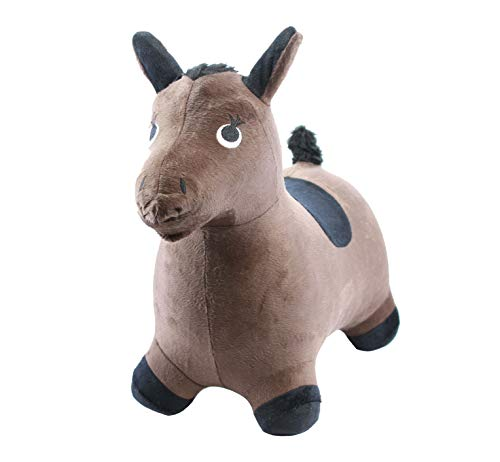 Chromo Inc) Inflatable Ride-On Toy (CI3007) - Horse Brown - New