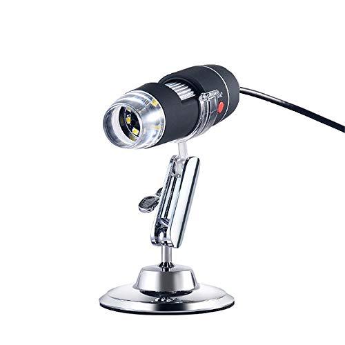 Zavddy-OP Wireless Digital-Mikroskop Wireless Digital-Mikroskop-Handheld USB-Mikroskop-Kamera mit einstellbaren LED-Leuchten Minitaschen-Handmikroskop (Farbe : Black, Size : Free Size)