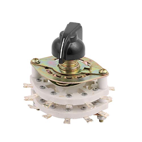 New Lon0167 KCT 6 Pole 2 Throw 6mm Selector de interruptor giratorio de canal de banda de eje w Cap(KCT 6-Pole 2-Wurf 6mm-Wellenband-Kanal-Drehschalter-Wahlschalter mit Kappe