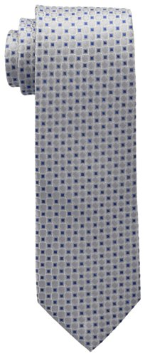 Tommy Hilfiger Men's Core Neat I Tie, Silver, One Size