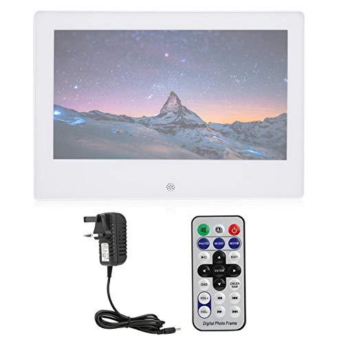 DAUERHAFT Maximum Read 32G 1024x600 Digital Photo Frame with(white, British regulations (100-240V))