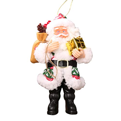CHRISTMAS Santa Claus Pendant Father CHRISTMAS Doll Decoration Santa Toy Ornaments (Red, Green)
