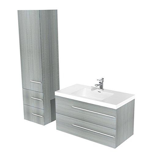 Armoire de salle de bain avec wien meuble sous-évier 100 cm - 155 cm