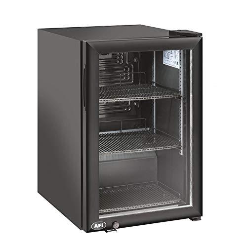 AFI Collin Lucy R600A - Mini armario refrigerado positivo lacado negro con cristal (60 L)