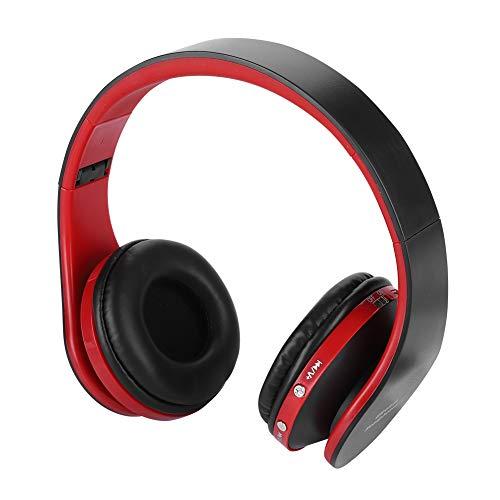 Acogedor PS4 headset professionele draadloze HiFi Bluetooth opvouwbare PS4 gaming hoofdtelefoon met microfoon, mini USB-dongle voor PS4, zwart + rood
