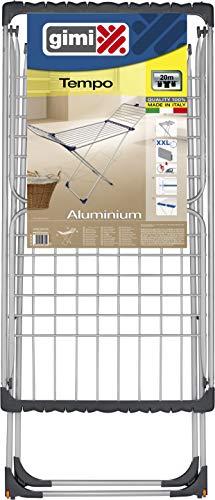Gimi Tempo Stendibiancheria da Pavimento in Alluminio 100%, 20 m Stendibili