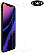 Compatible for iPhone 11 Screen Protector/iPhone XR Screen Protector, H D Clear No Bubble Scratch Proof 9H Hard Tempered Glass for iPhone 11 6.1 inch/iPhone XR 2018 [2-Packs]