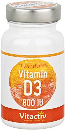 VITAMIN D3, hochdosiertes D-Vitamin für das Immunsystem, die Knochen und Muskeln, natürliche Inhaltsstoffe, trägt zu normalem Calciumspiegel bei (100 Tabletten)