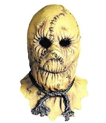 HX Halloween Dekorationen Clearance Halloween Scarecrow Qualität Latex-Maske Riss-Teufel-Gesicht männlich Kopfbedeckung Bar-Party (Color : Scarecrow)
