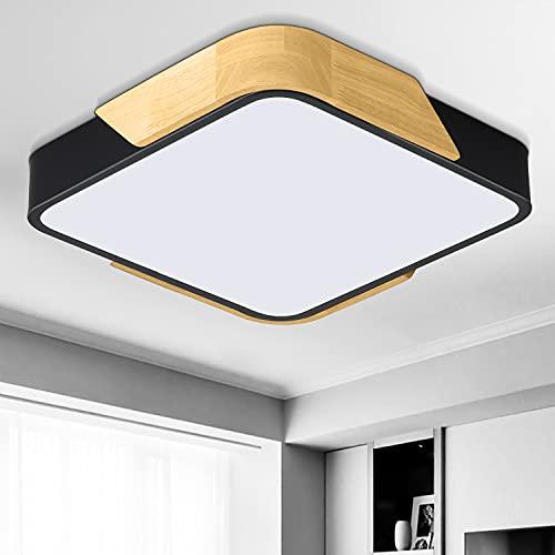 Dehobo Lámpara de Techo LED 24W, Lámpara de Techo Luz Blanca 6000K Plafón de Techo Cuadrada Equivalente a la lámpara de 150W, Moderna LED Plafón Para Dormitorio Baño Cocina, Sala de Estar