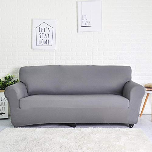 GJHGJ Funda de sofá elástica geométrica para Sala de Estar Funda de sofá seccional Moderna Funda Protectora para Silla 1/2/3/4 plazas-Gris, 3 plazas 190-230cm, Francia