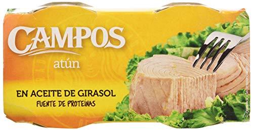 Campos, Conserva de atún en aceite de girasol -  pack de 2 latas de 80 gr.