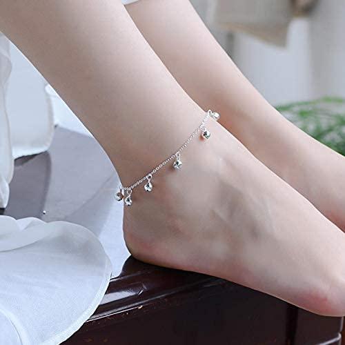 Gwuqbs Pulsera 925 Silver Silver Lucky Little by Pulsera Simple Linda Chica Cadena joyería Hermoso Regalos a Mujeres Accesorios Elegantes una Cadena de Plomo