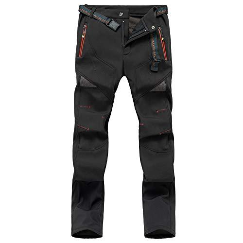 SUKUTU Pantalones de Senderismo Impermeables para Mujer, Softshell térmico, Forro Polar de Invierno, Ropa Deportiva para Mujer, Pantalones de Secado rápido, Transpirables, para Caminar