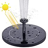 AISITIN Solar Fountain Pump 2.1W Solar Water Pump Floating Solar Powered Fountain Kit with 6...