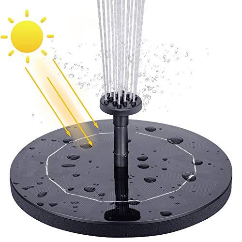VITCOCO Solar Springbrunnen, 2.1 W Solar Teichpumpe Outdoor Wasserpumpe Springbrunnen Schwimmend Pumpe mit 6 Effekte für Teich, Pool, Fischteich, Vogelbad, Garten