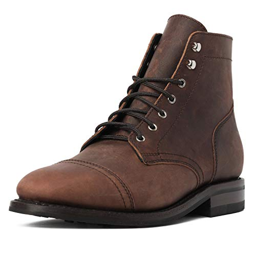 Thursday Boot Company Men's Captain Rugged and Resilient Cap Toe Boot, Arizona Adobe, 9.5
