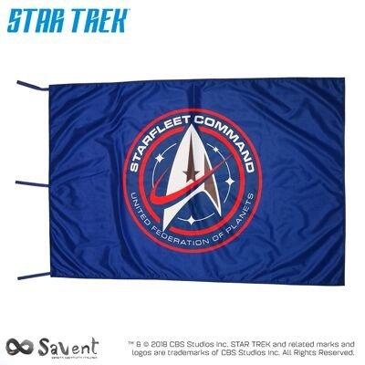 Savent Star Trek Flagge Offizielle CBS–Discovery Starfleet Command Blue