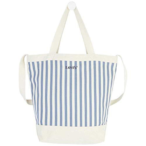 Levi's Damen Striped Shopper, TOTE BAG, Blau - blau - Größe: Einheitsgröße