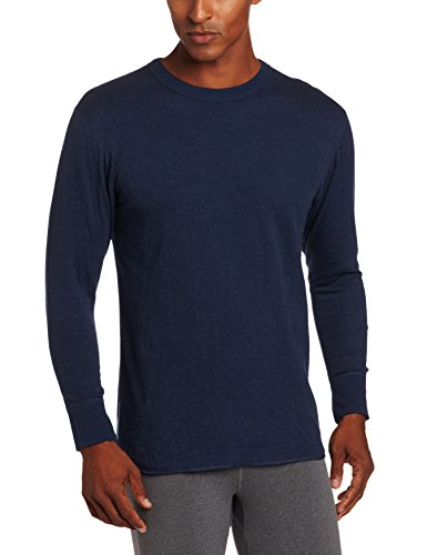 Duofold Men's Mid Weight Double Layer Thermal Shirt, Blue Jean, X-Large