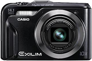 Casio EX-H20GBK Hybrid-GPS Enabled 14 MP Digital Camera with 10x Zoom and 3-Inch LCD (Black)