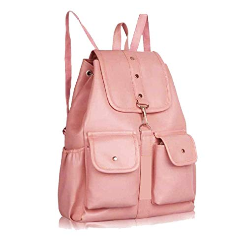 PAGWIN® PU Leather Student Backpack School Bag for Girls Travel Bag Collage Trendy Latest Stylish Girl Shoulder Backpack (Tan) PB-0026
