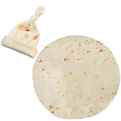 Xinlie Burrito ronde deken Comfort microvezel Tortilla deken noviteit Burrito deken strandlaken badmat ronde sofa deken badkamer tapijt voor woonkamer voor kinderen of volwassenen