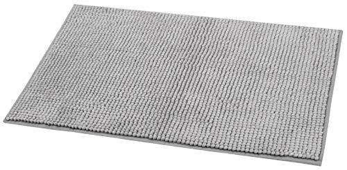 ZOLLNER Badematte Badteppich Hochflor, 50x80 cm, grau (weitere verfügbar)