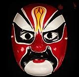 HLJZK La máscara de Pulpa de Yeso Pintada a Mano Puede Usar Estilo Chino Género Sichuan Opera Cambio de Cara Atrezzo de Rendimiento Artesanía Beijing Opera Cheng J