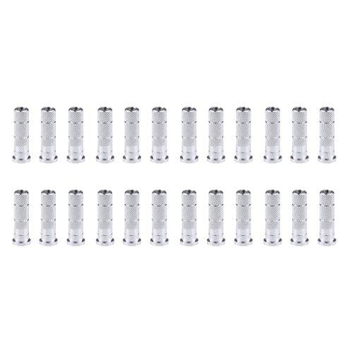 MagiDeal Lot de 24pcs 6.2mm Inserts De Flèche en Aluminium Arrow Shaft Accessoires De Tir à l'arc