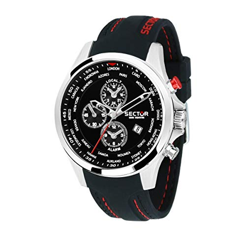 Sector No Limits Herrenuhr, 180 Kollektion, aus Stahl, Silikon - R3251180022