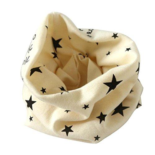 Longra Automne Hiver bébé Garçons Filles Collier Coton O Anneau Écharpe Neck 40 * 37cm pour 2 à 10 Ans (Beige)