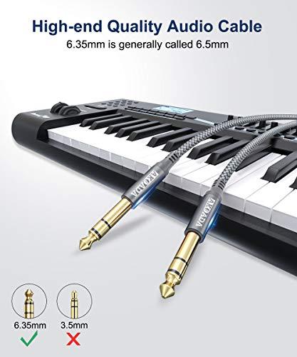 AKOADA Cable Guitarra Eléctrica Professional,Cable Jack 6.35mm Instrumento Mono,1/4