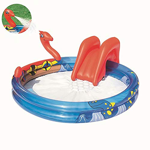 AA-SS Water Pool Slide Inflatables Bouncy Castles with Water Slide,Water Play Centre Water Park for Kids with Water Slide