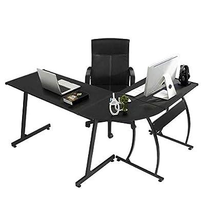 GreenForest Office Desk Corner L Shaped Workstation Laptop Table