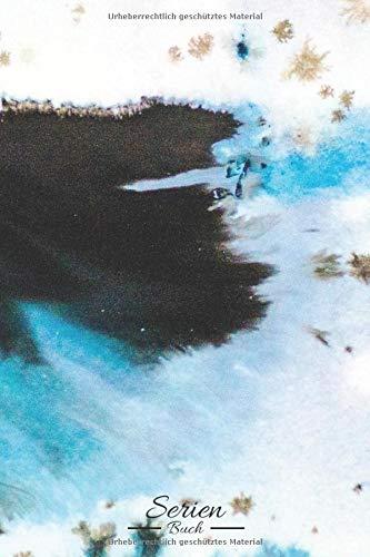 Serien Buch: Marmor Wasserfarben • Weiß Schwarz Blau • Farben Kunst • Serien Bewertungen • Serien Highlights • 100 Seiten ║ Kritik Heft - ca. DIN A5 Format ║ kleines Geschenk für Freunde