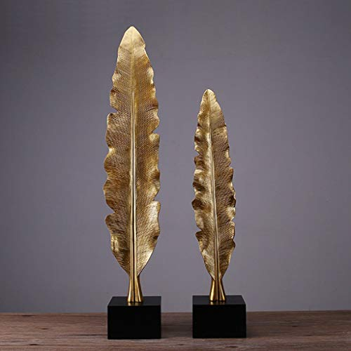 Lianlili Plantas Creativas Modernas Hojas Decoración Suave Adornos Hogar Porche Artesanías de Resina de Alto Grado