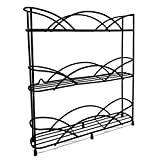 Spice Racks Free Standing for Spice & Herb Rack - Holds 21 Jars - Includes 2 Suction Cups (Black)