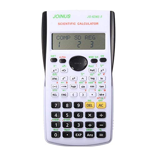 Mini Electronic Scientific Calculator Tragbarer Multifunktionaler 12 Digital Counter Office Home Studenten Funktionsbedarf-Schwarz