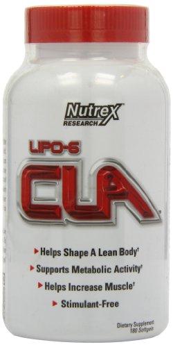 Nutrex Lipo-6 CLA Softgels - Pack of 180 Softgels