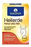 Bullrich Heilerde Pulver ultra fein | zur inneren und äußeren Anwendung | Hilfe bei Akne, Muskelbeschwerden, Magen-Darm Beschwerden, Darmsanierung, Cellulite (500 g)