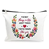 Makeup Cosmetic Bags - The Best Things In Life Aren't Things - Cotton Zipper Pouch Travel Bag Toiletry Make-Up Case for Women Stoner Friend Sister Bestie Birthday Gifts