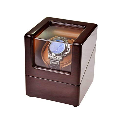 ZCYXQR Watch Winders, Watch Winder Box for Automatic Watches or Rolex Double Spacious for Any Size, Craftsmanship Bamboo Wood Patent Housing Case