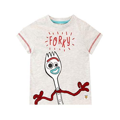 Disney Maglietta Maniche Corta per Ragazzi Toy Story Forky Grigio 18-24 Mesi