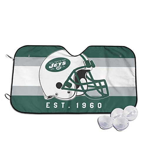 GAJzuiajg New York Jets Car Windshield Awning Provides The Best UV Protection and Sun Protection, car Decoration Keeps The Vehicle Cool and Protects The Snowboard Inside The Vehicle